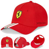 2020 Scuderia Ferrari F1 Fanwear Red Italy Flag Baseball Cap Adult Size Official