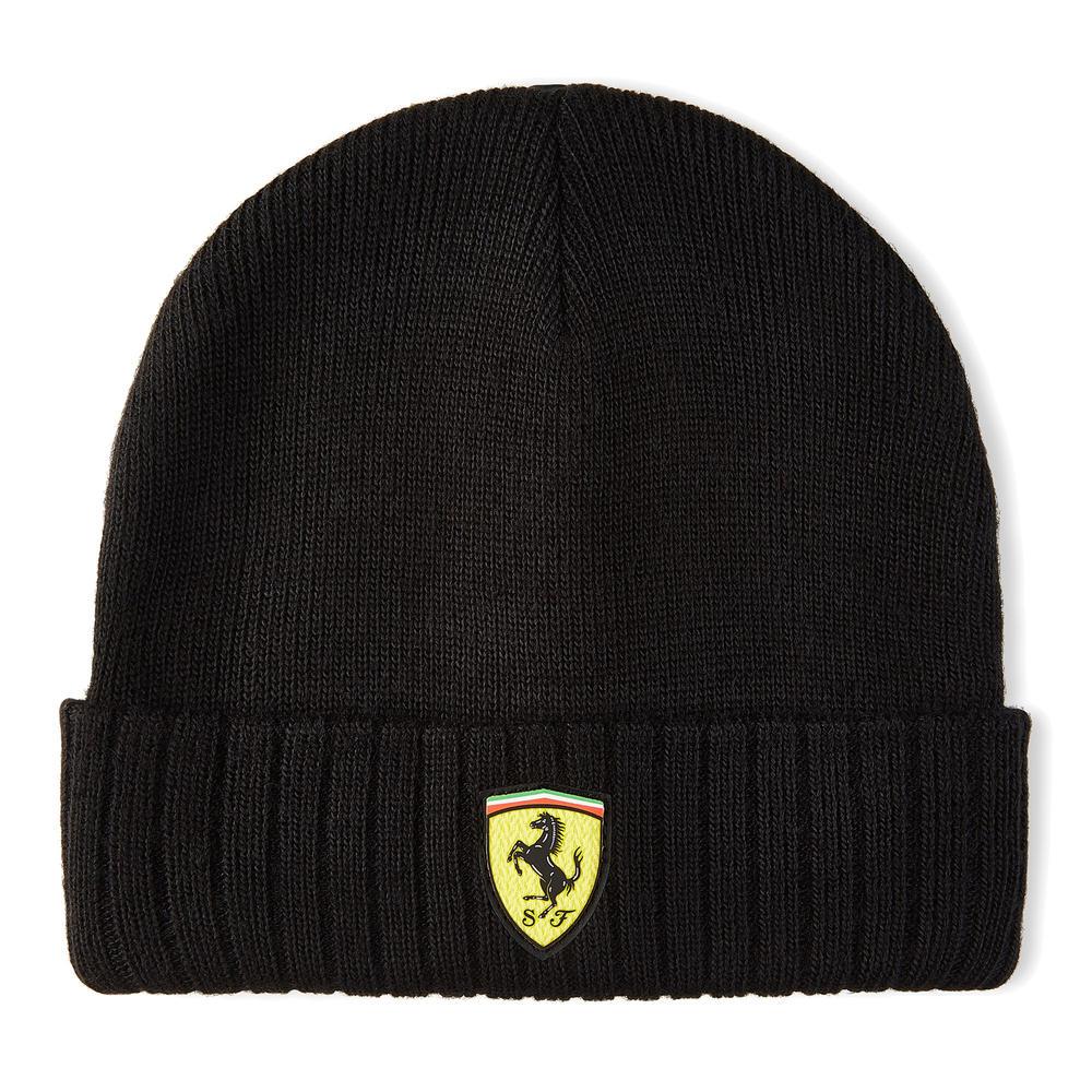 2020 Scuderia Ferrari F1 Fanwear Black Beanie Hat Adults Size Official