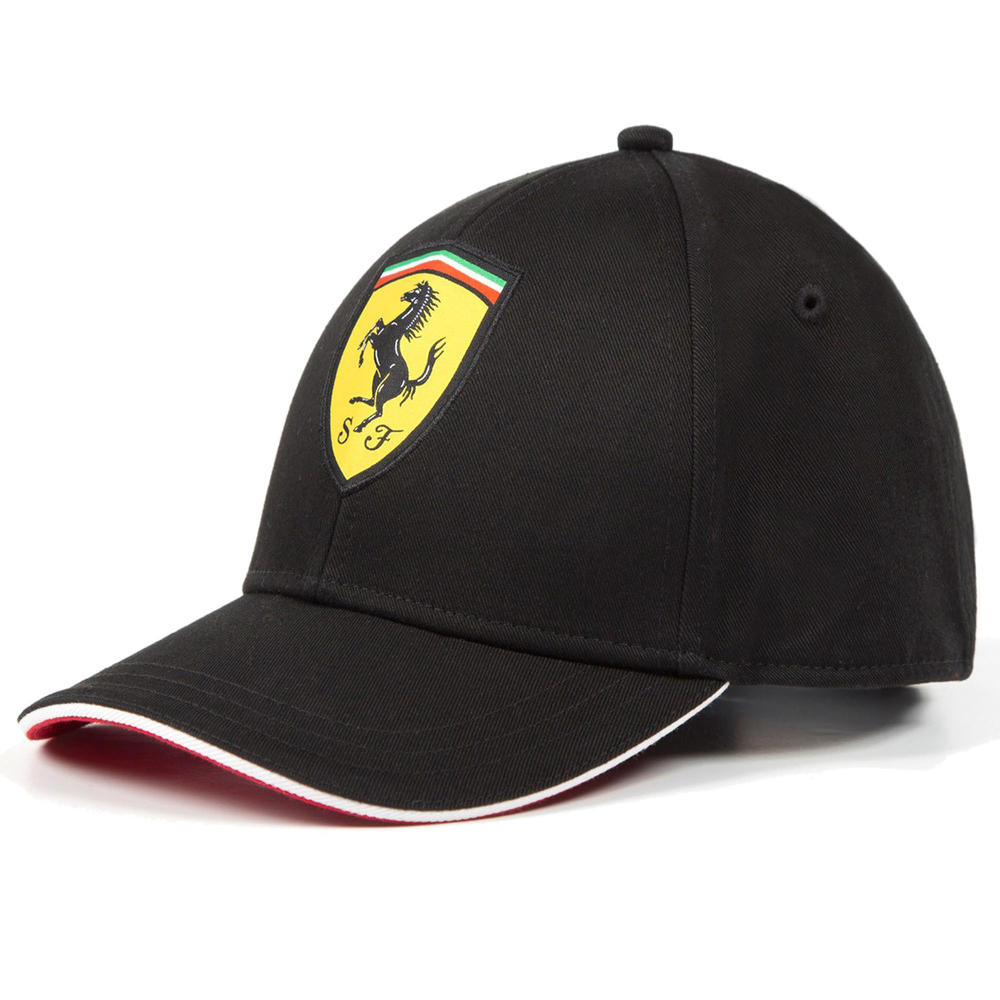 2020 Scuderia Ferrari F1 Fanwear Black Classic Baseball Cap Kids Size Official