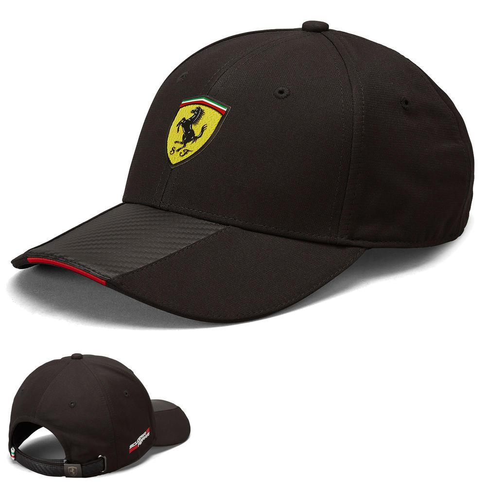2020 Scuderia Ferrari F1 Fanwear Black Carbon Baseball Cap Adults Size Official