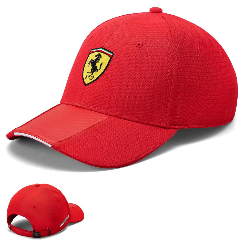2020 Scuderia Ferrari F1 Fanwear Red Carbon Baseball Cap Adults Size Official