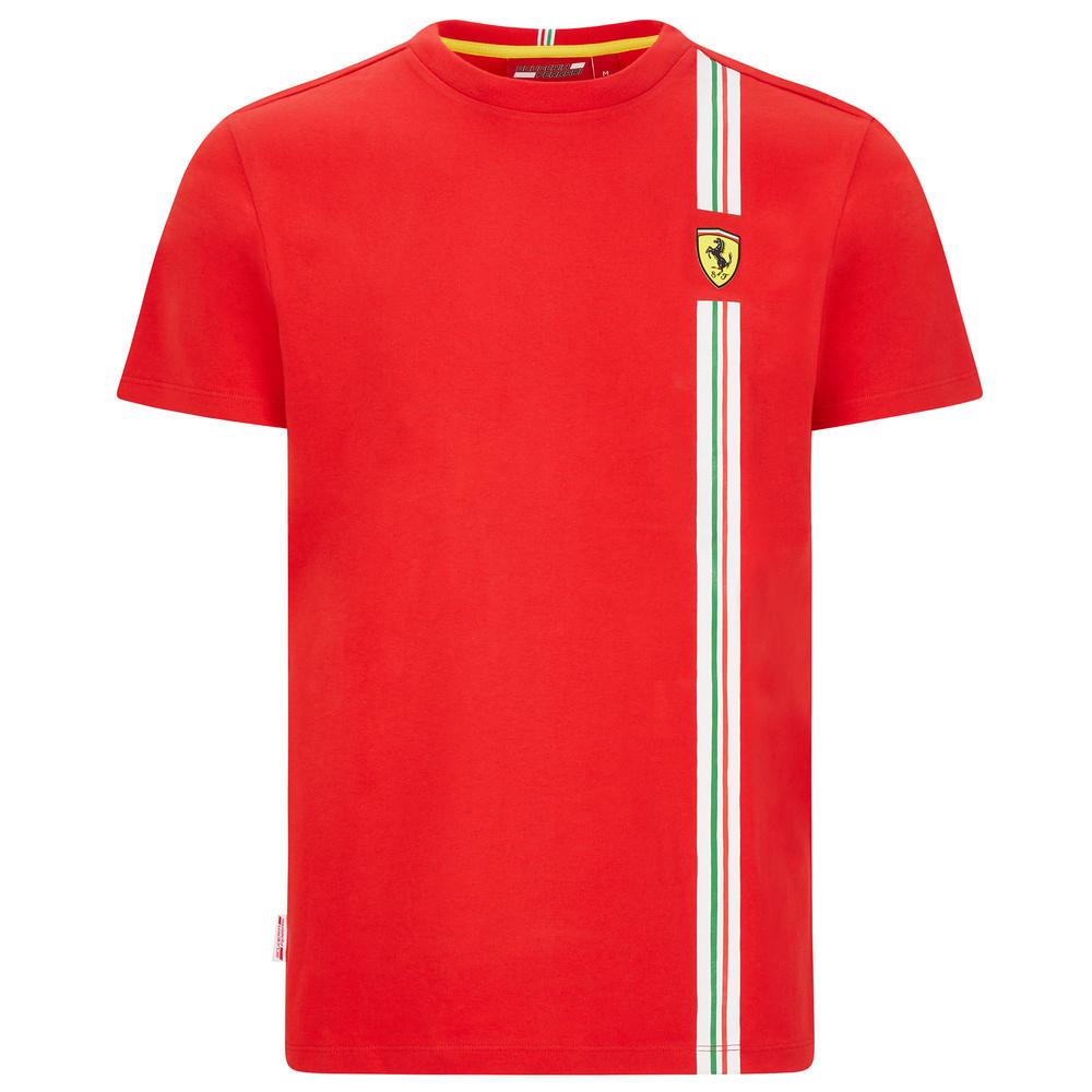 2020 Scuderia Ferrari F1 Fanwear Mens Flag Graphic T-Shirt Official Merchandise