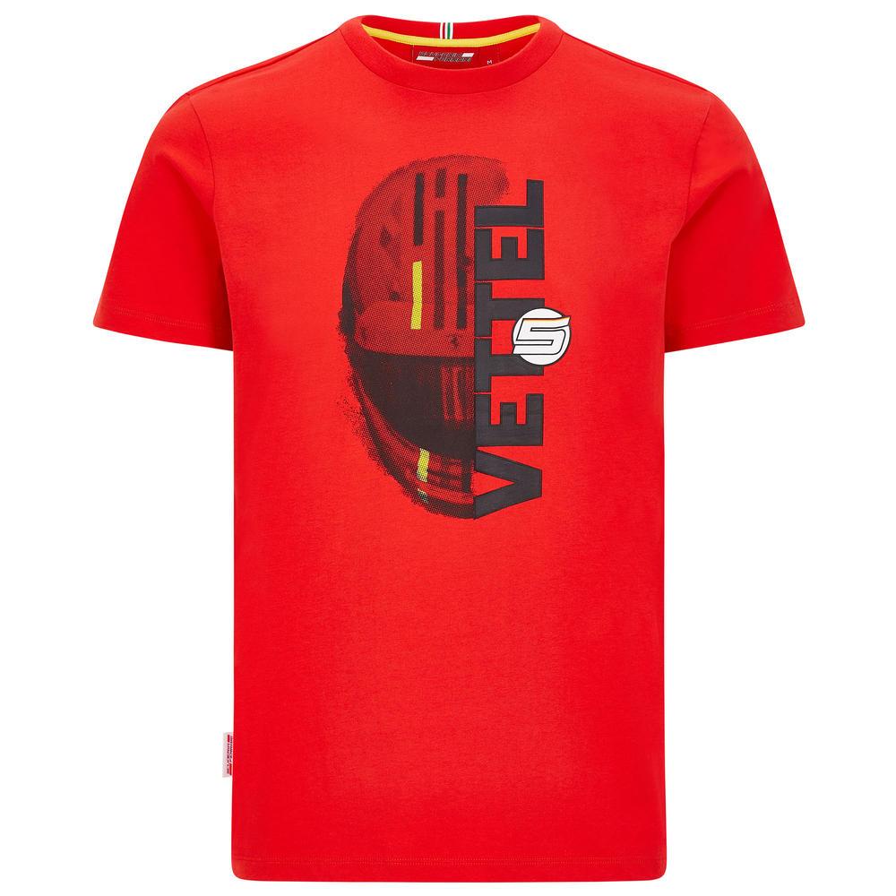 2020 Scuderia Ferrari F1 Fanwear Mens Sebastian Vettel T-Shirt Official S-XXL