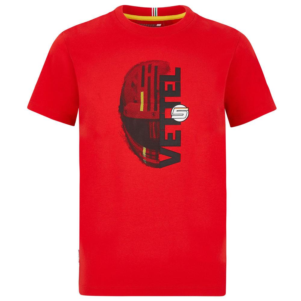 2020 Scuderia Ferrari F1 Fanwear Kids Children Sebastian Vettel T-Shirt Official