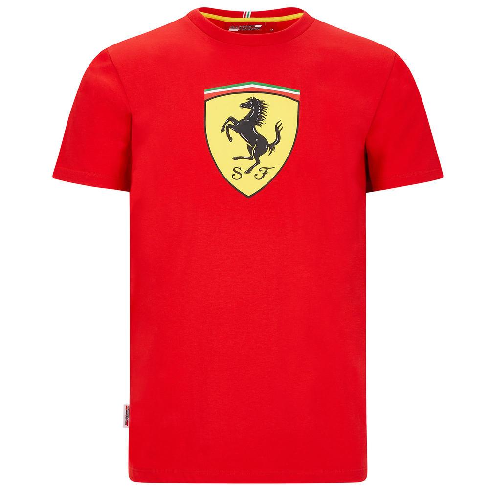 2020 Scuderia Ferrari F1 Fanwear Mens Shield T-Shirt Tee Official Sizes S-XXL