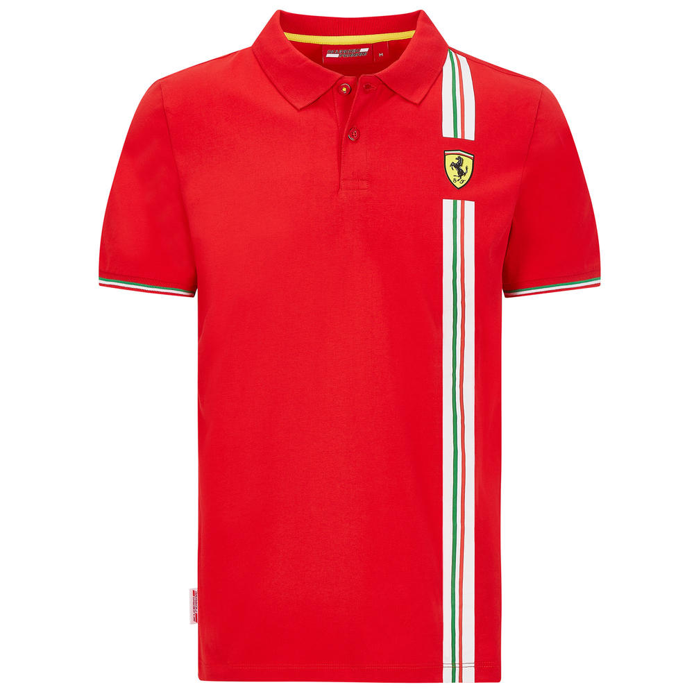 2020 Scuderia Ferrari F1 Fanwear Mens Italy Logo Polo Shirt Official Sizes S-XXL