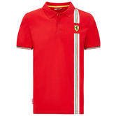 2020 Scuderia Ferrari F1 Fanwear Mens Italy Logo Polo Shirt Official Sizes S-XXL