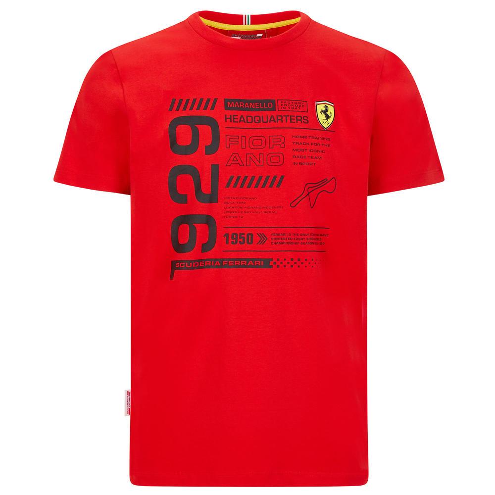 2020 Scuderia Ferrari F1 Fanwear Mens Detail T-Shirt Tee Official Merchandise
