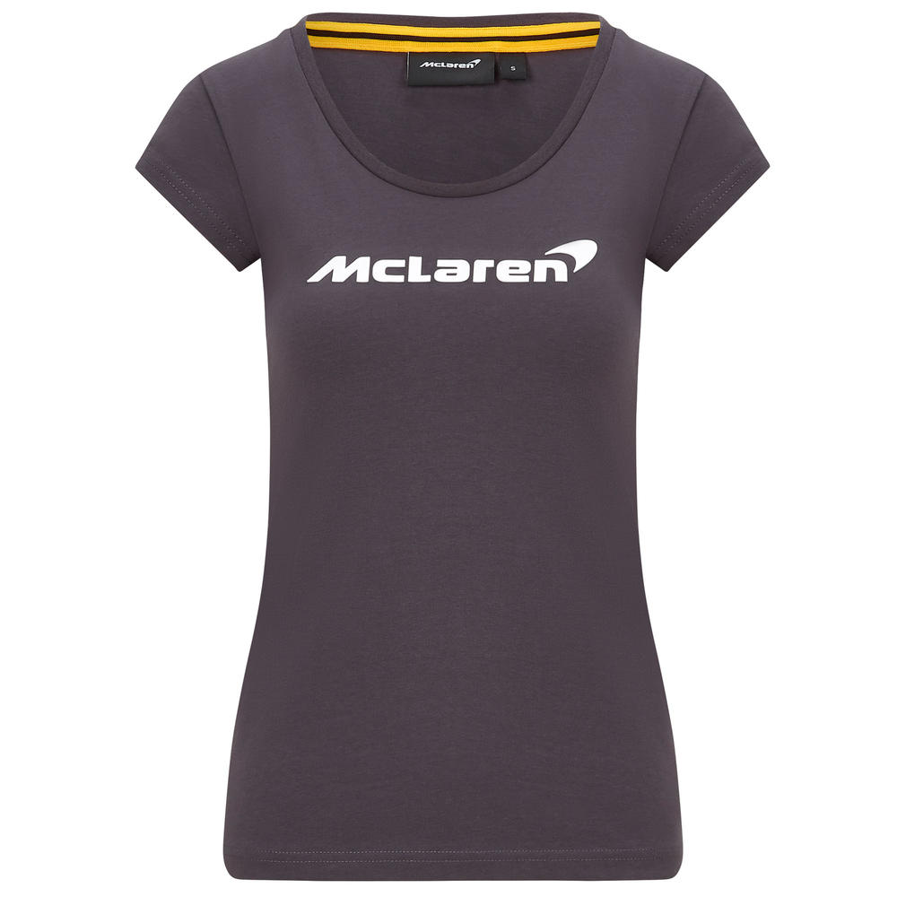Official 2020 Mclaren F1 Team Womens Ladies Essentials T-Shirt Norris Sainz