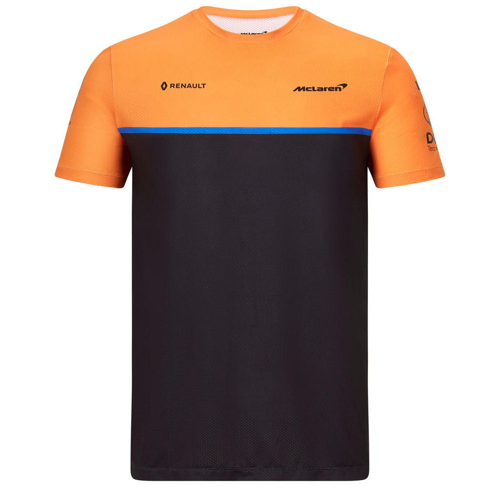 Official 2020 Mclaren F1 Team Mens Team Set Up T-Shirt Lando Norris Carlos Sainz
