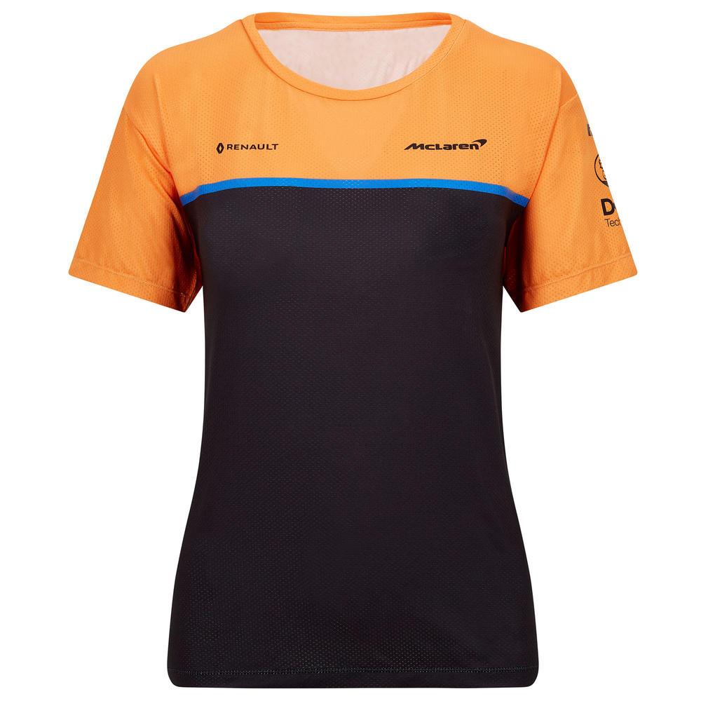 Official 2020 Mclaren F1 Team Womens Ladies Team Set Up T-Shirt Norris Sainz