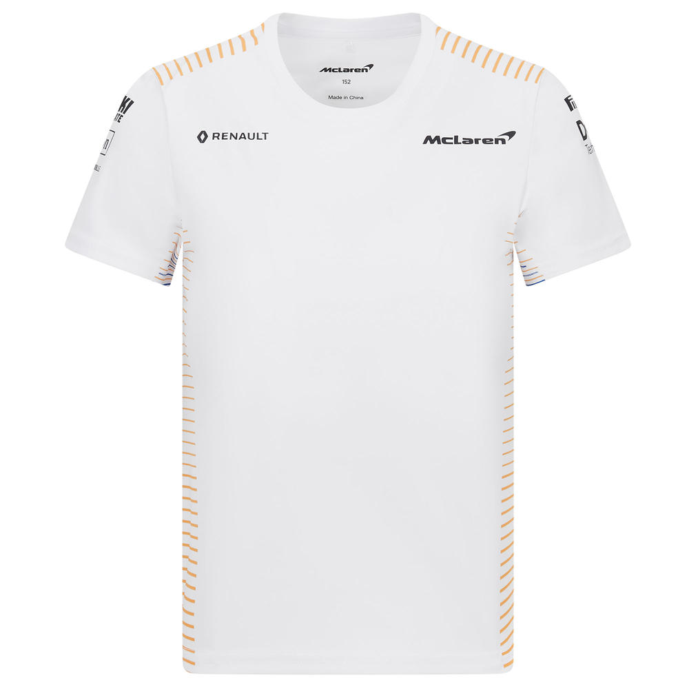 Official 2020 Mclaren F1 Team Kids Childrens Team T-Shirt Lando Norris Sainz