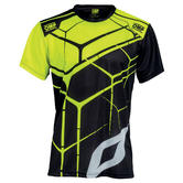 New! OMP Racing Teamwear Fan T Shirt in Black/Fluo Polyester Sizes S-XXL
