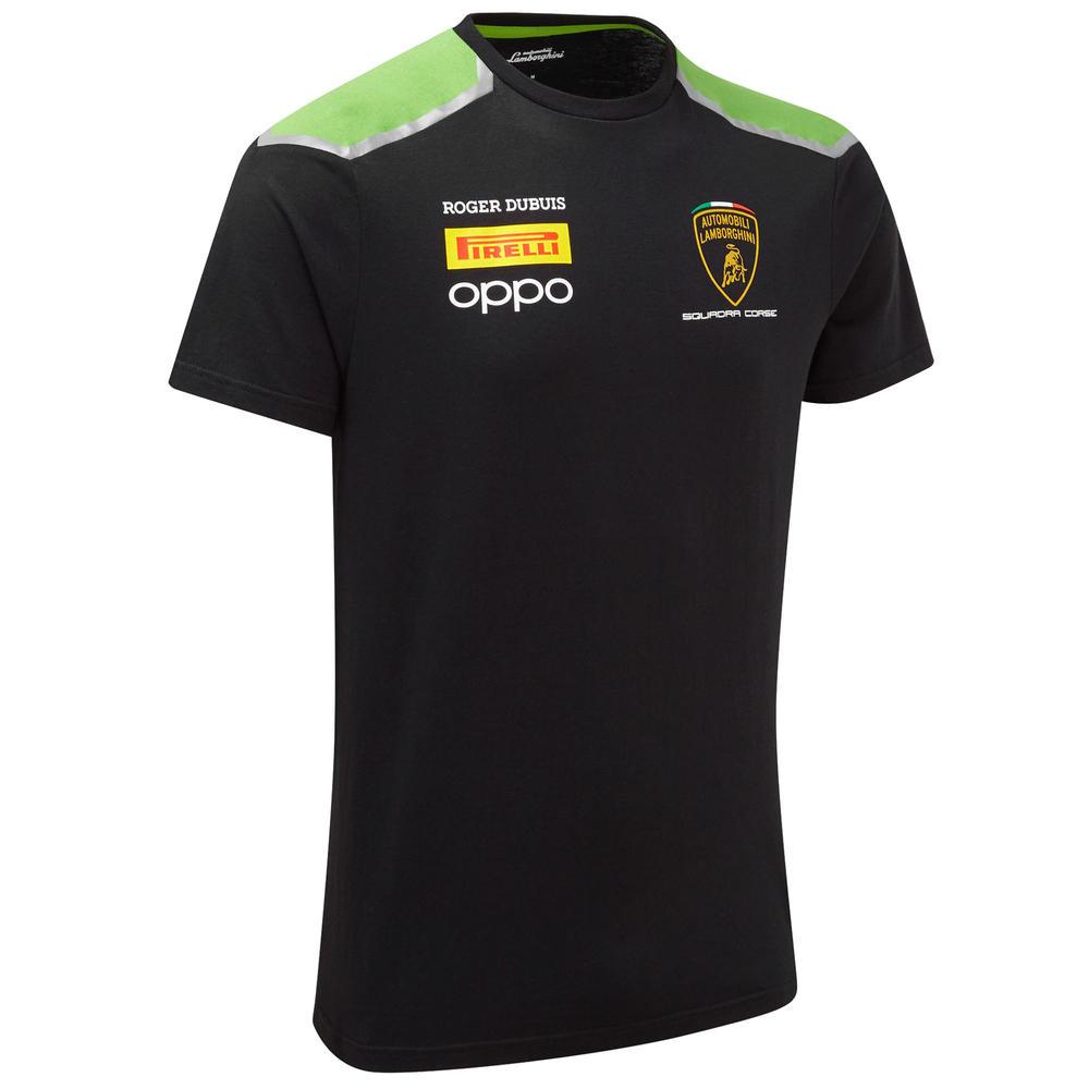2020 Lamborghini Squadra Corse Mens Team T-Shirt Black Official Merchandise
