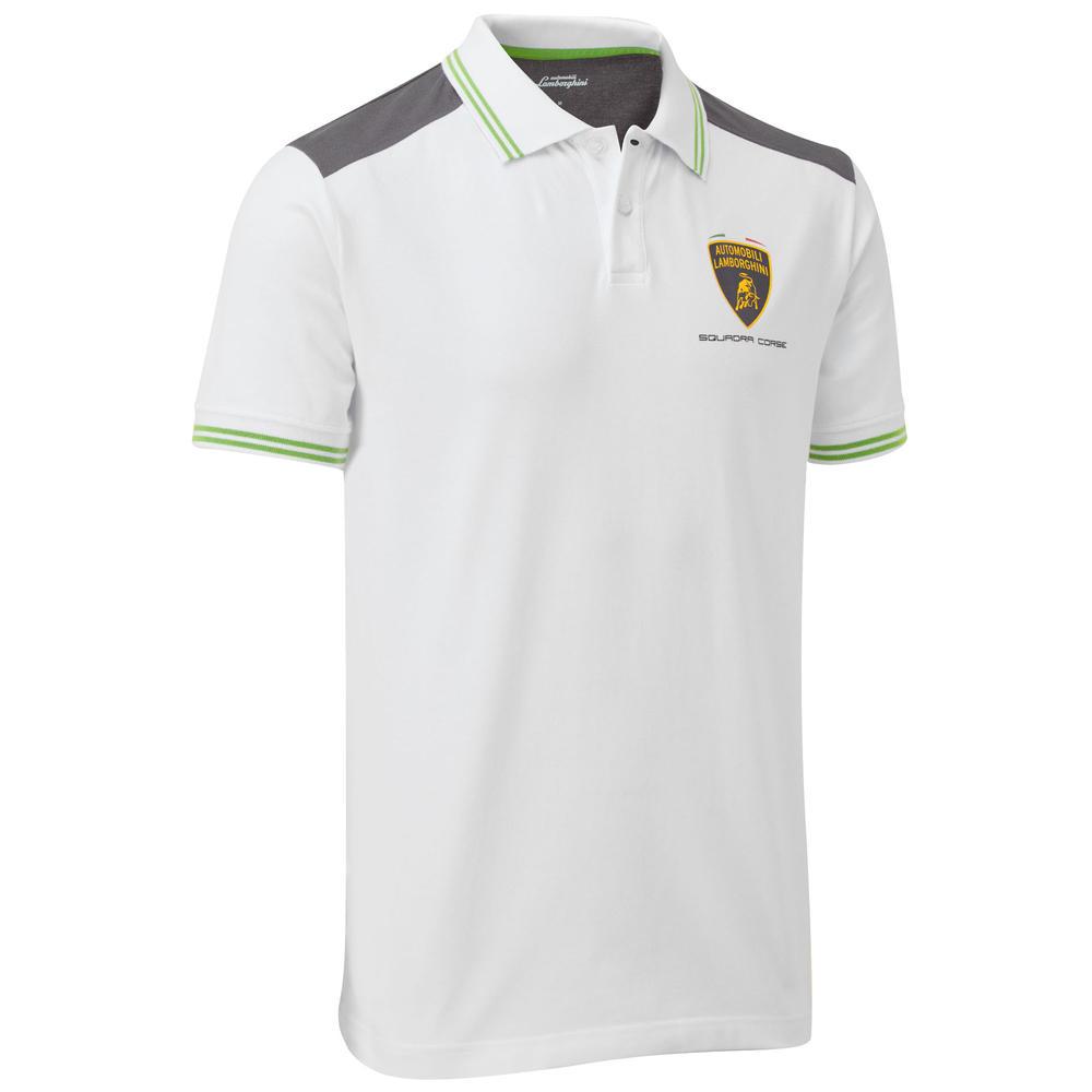 2020 Lamborghini Squadra Corse Mens Team Polo Shirt White Official Merchandise