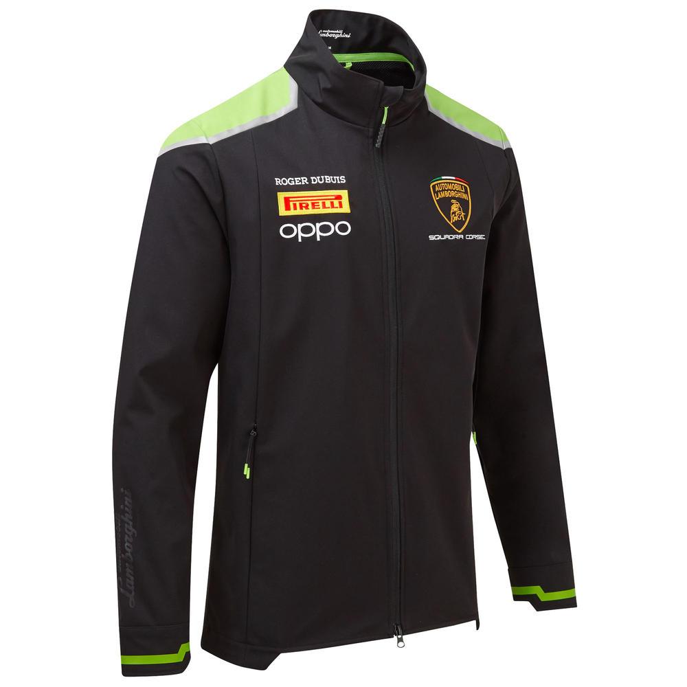 2020 Lamborghini Squadra Corse Mens Softshell Jacket Black Official Merchandise