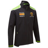 2020 Lamborghini Squadra Corse Mens Softshell Jacket Black Official Merchandise