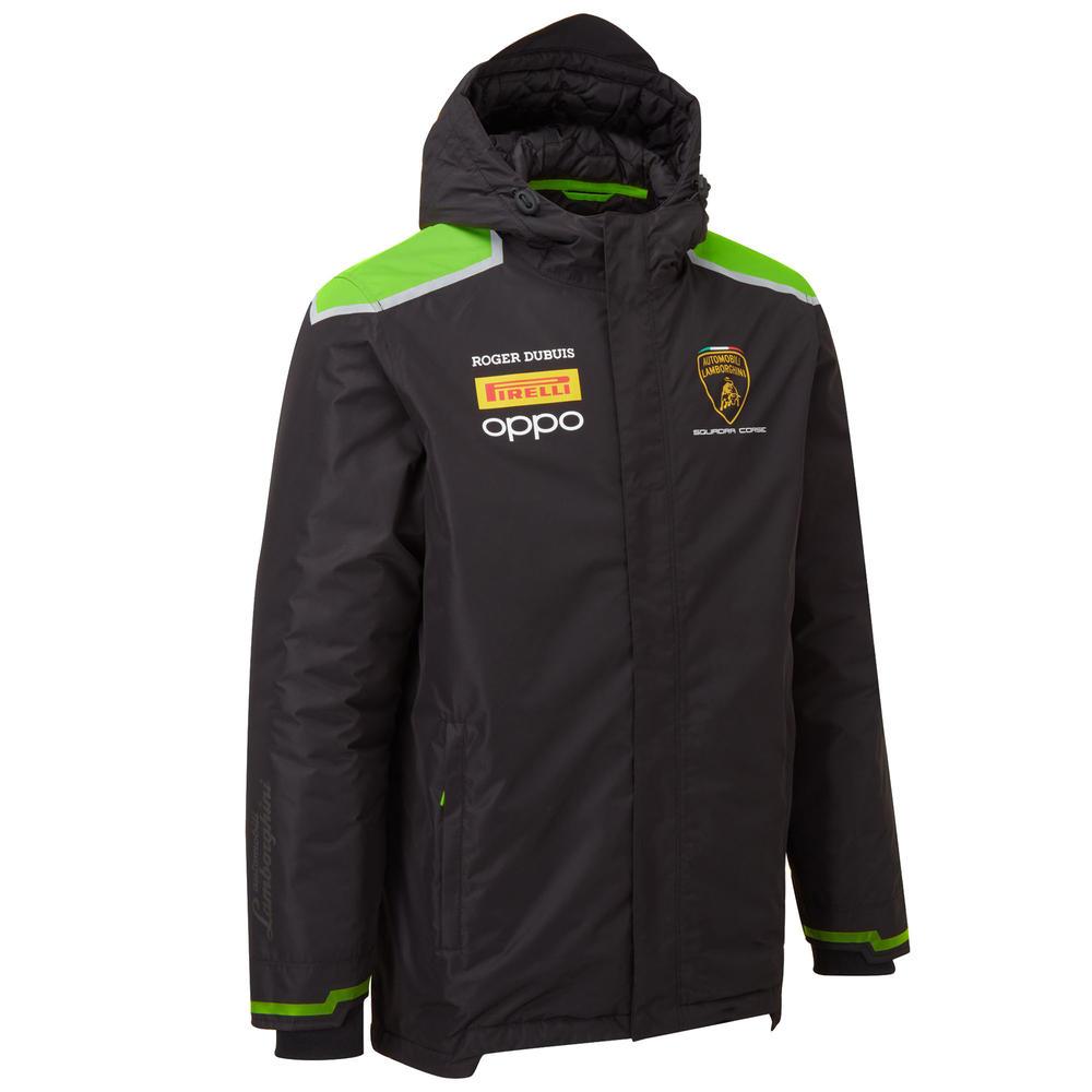 2020 Lamborghini Squadra Corse Mens Rain Jacket Coat Black Official Merchandise