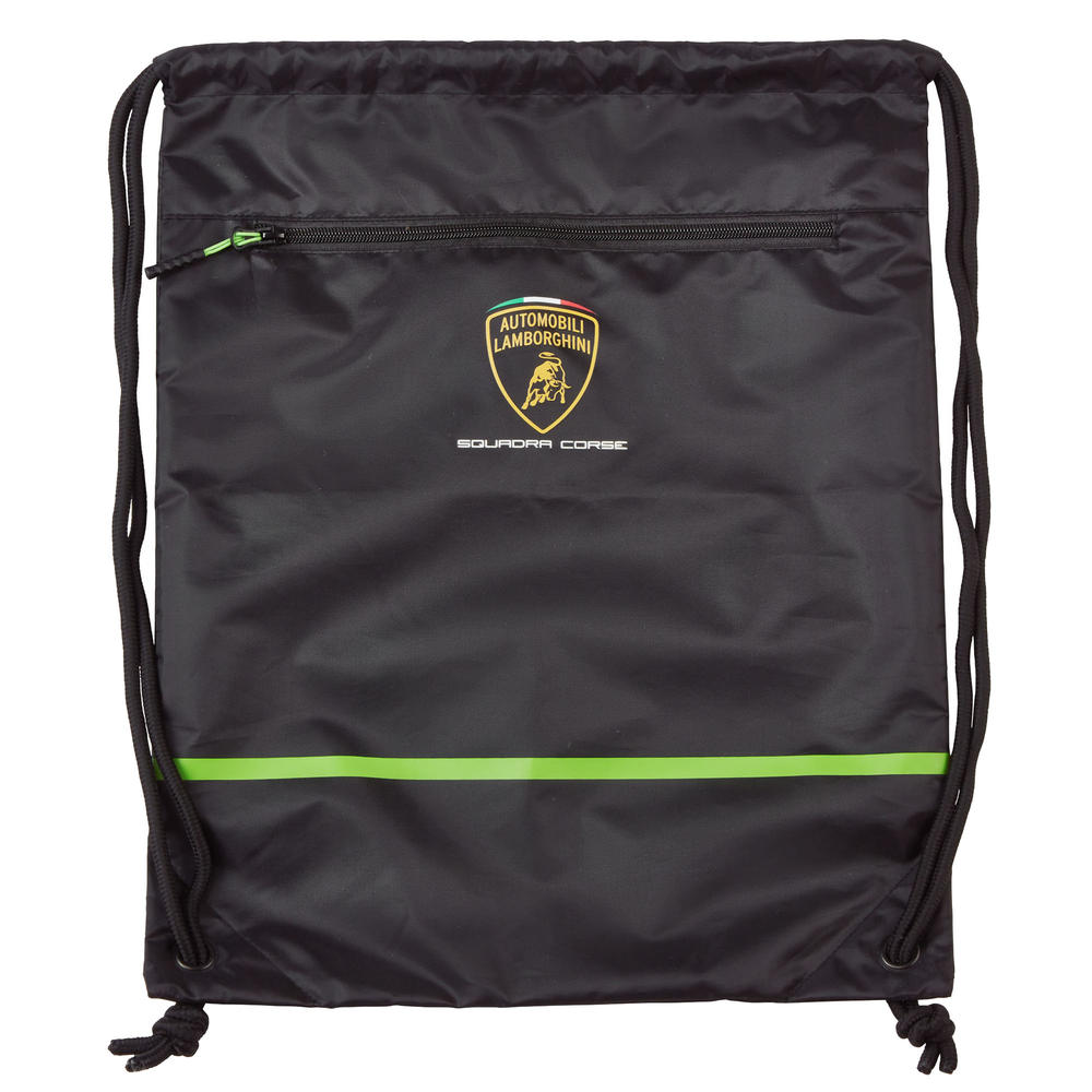 2020 Lamborghini Squadra Corse Pullbag Gym Bag Black Official Merchandise