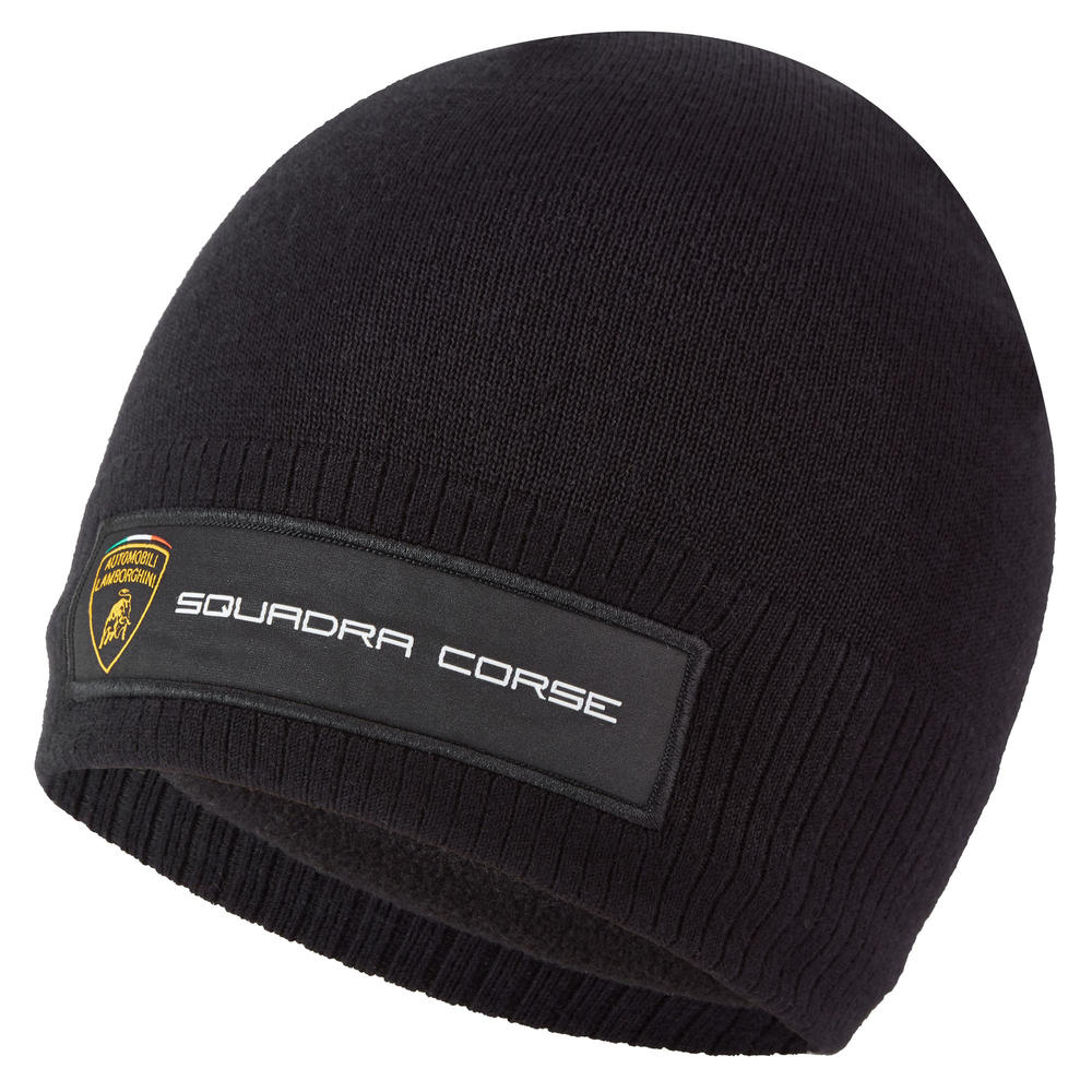 2020 Lamborghini Squadra Corse Team Beanie Hat Black Official Merchandise