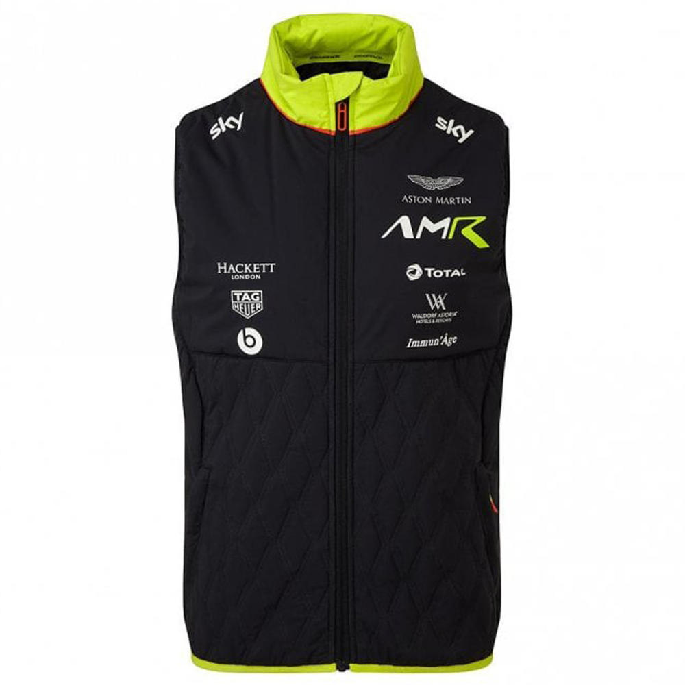 Sale! Aston Martin Racing Team Mens Gilet Body Warmer Jacket Official Product