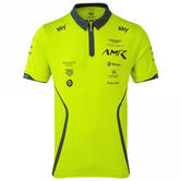 Sale! Aston Martin Racing Team Mens Polo Shirt Lime Green Official Merchandise