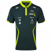 Sale! Aston Martin Racing Team Mens Polo Shirt Stirling Green Official Product