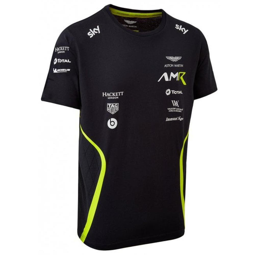 Sale! Aston Martin Racing GT Team Mens T-Shirt Tee Navy Blue Cotton