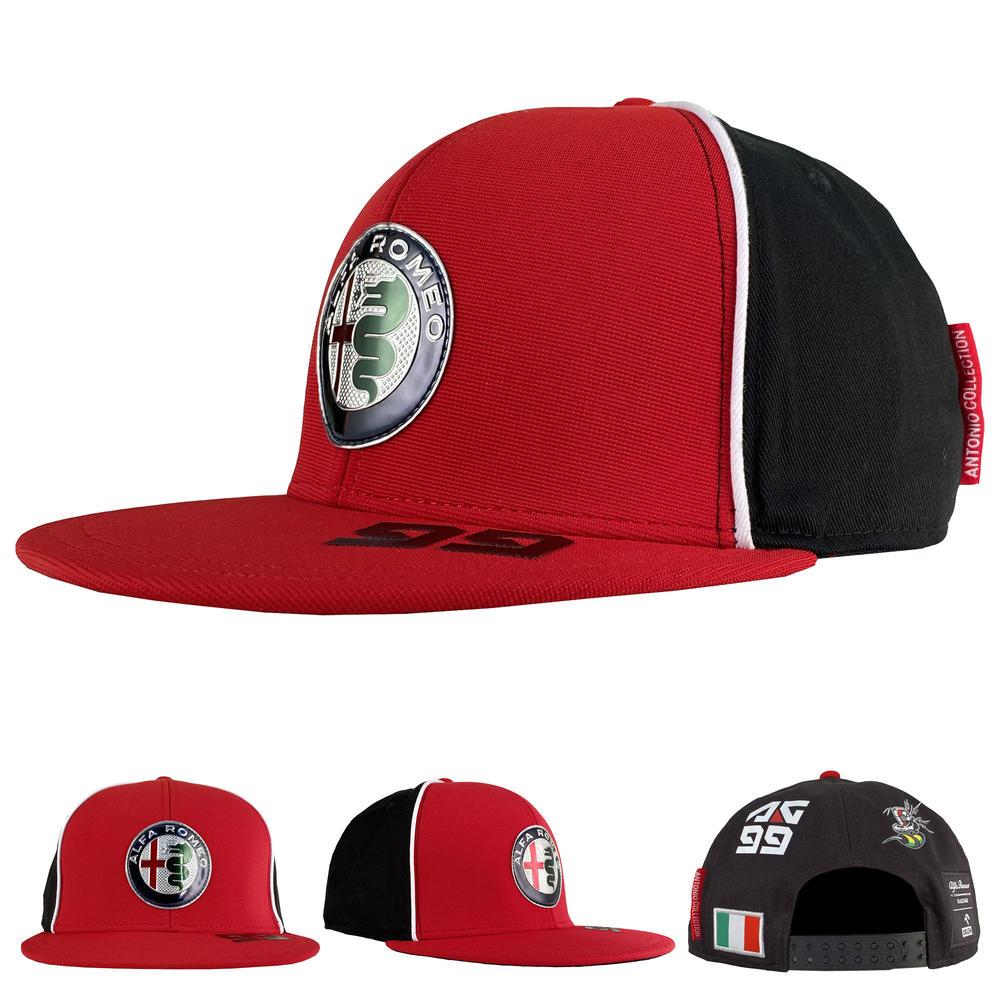 2020 Alfa Romeo Racing F1 Team Adults Baseball Flat Brim Cap Antonio Giovinazzi
