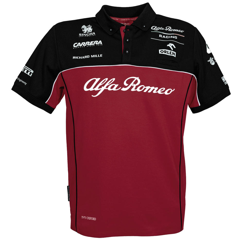 2020 Alfa Romeo Racing F1 Team Mens Polo Shrit T-Shirt Official Merchandise