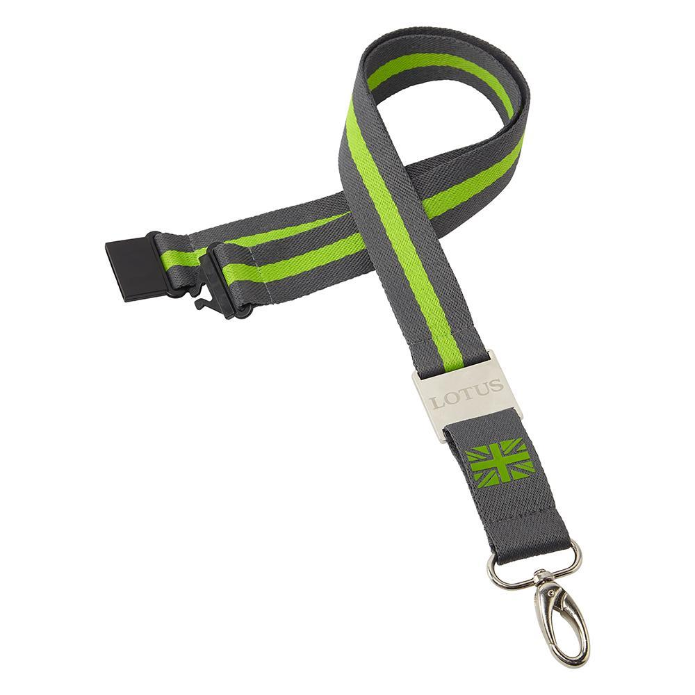Sale! Classic Lotus Cars Lanyard Neck Strap Ticker Holder with Clip Green/Yellow