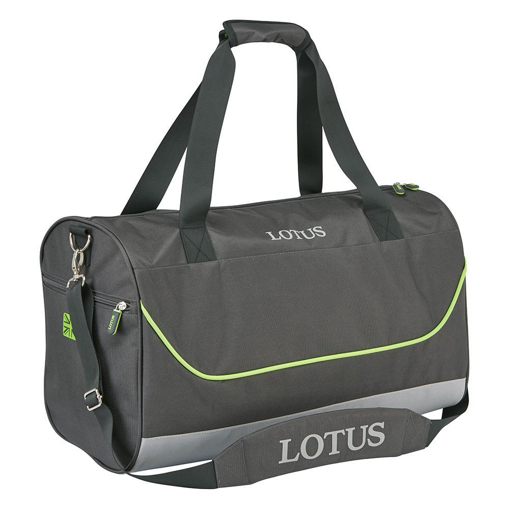 Sale! Classic Lotus Race Team Holdall Gym Overnight Bag Grey/Green Official Bag