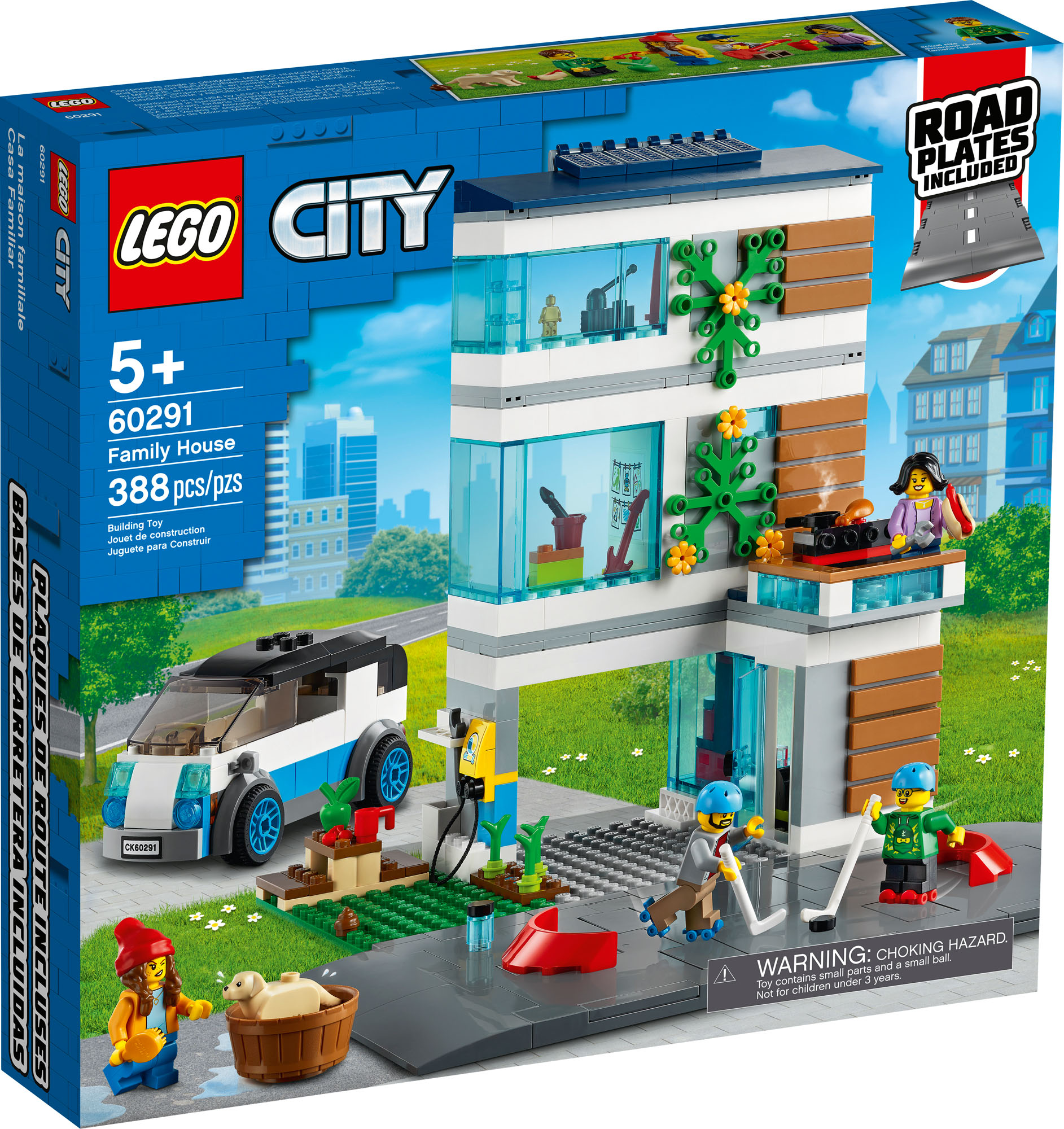 New! 60291 LEGO City Modern Family House with 4 ...