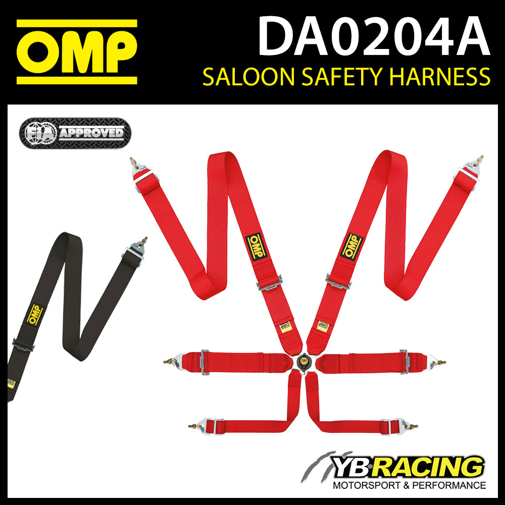 """DA0204A OMP FIRST 3"""" HARNESS ENTRY LEVEL 6-POINT RACE RALLY TRACK FIA 8853-2016"""