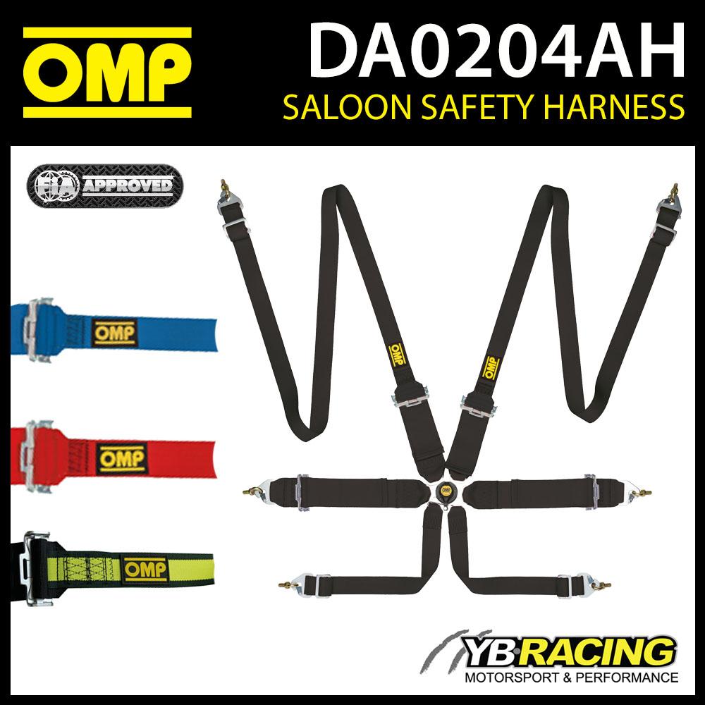 DA0204AH OMP FIRST 3+2 FHR HANS HARNESS 6-POINT RACE RALLY TRACK FIA 8853-2016