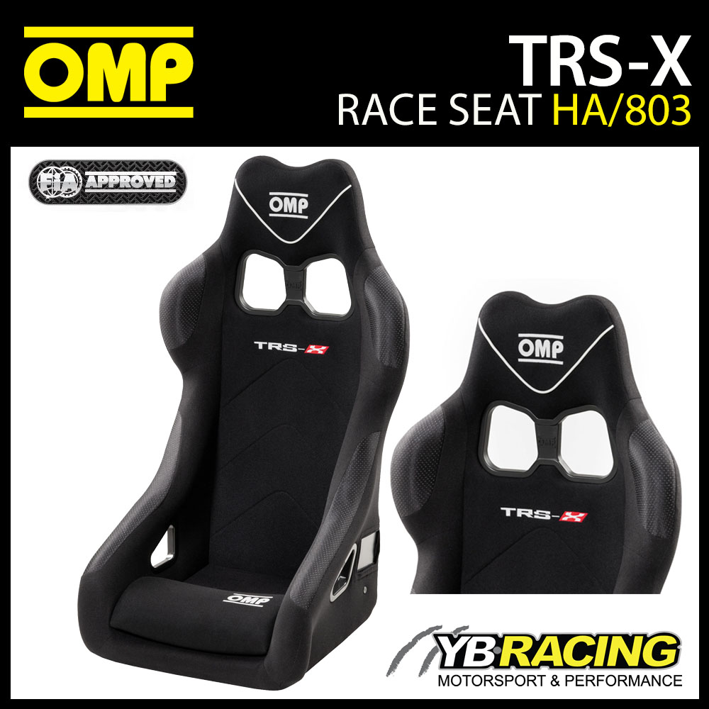 HA/803/N OMP TRS-X RACE SEAT BLACK FIA 8855-1999 MOTORSPORT RACE RALLY TRACK