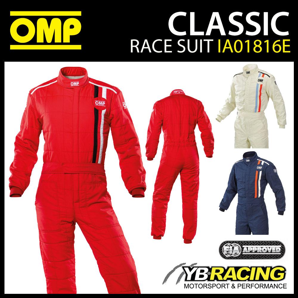 IA01816E OMP CLASSIC RACE SUIT VINTAGE 1970's RETRO STYLE FIA 8856-2018 APPROVED