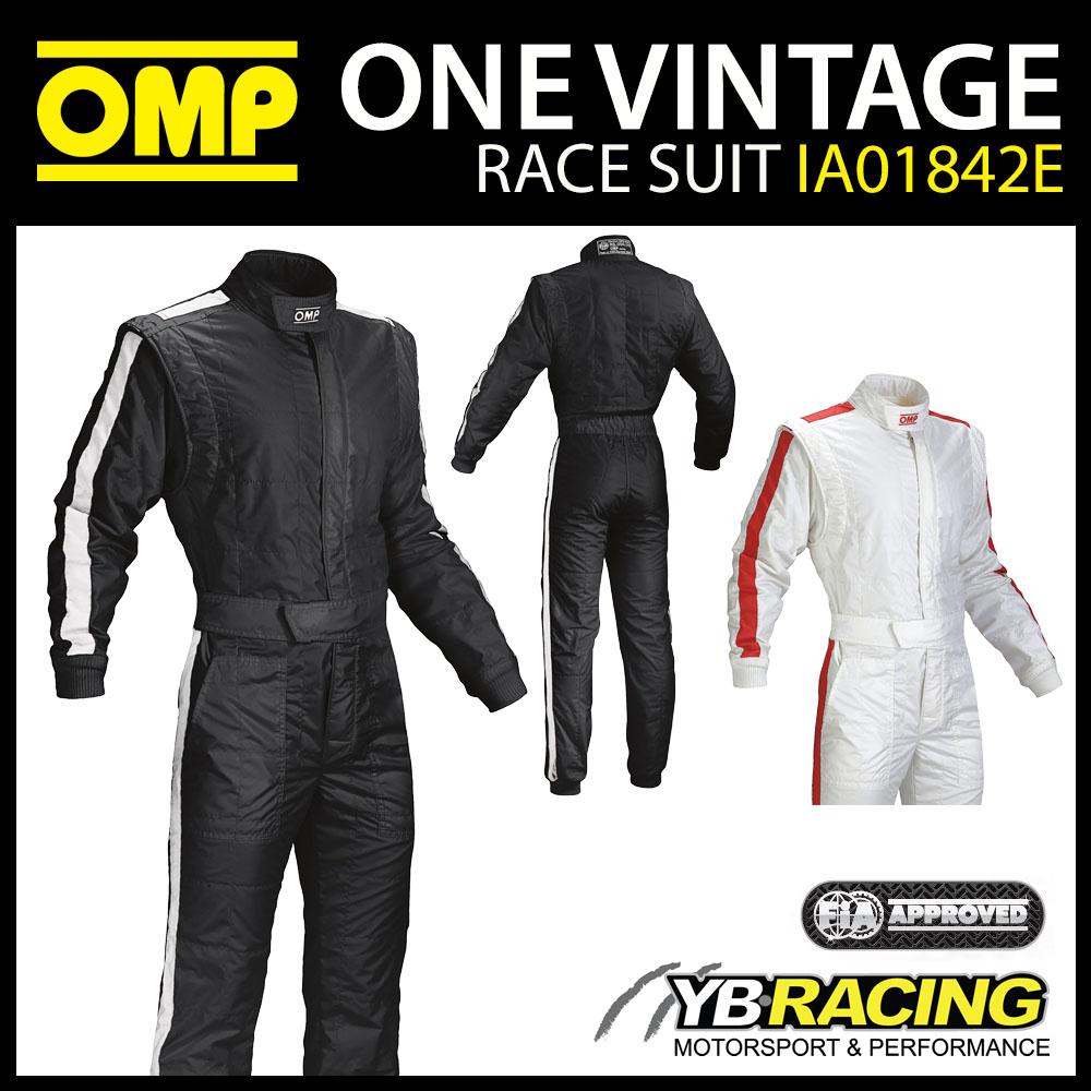 IA01842E OMP ONE VINTAGE RACE SUIT F1 1960'S STYLE FIA 8856-2018 FIREPROOF