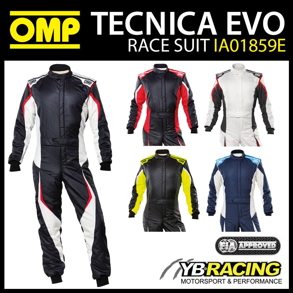 IA01859E OMP TECNICA EVO RACE SUIT 2021 UPDATED DESIGN & FIA 8856-2018 APPROVED