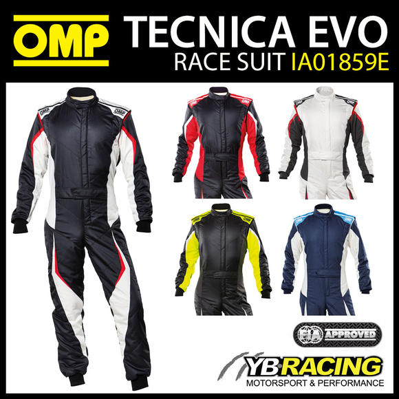 IA01859E OMP TECNICA EVO RACE SUIT 2021 UPDATED DESIGN & FIA 8856-2018 APPROVED