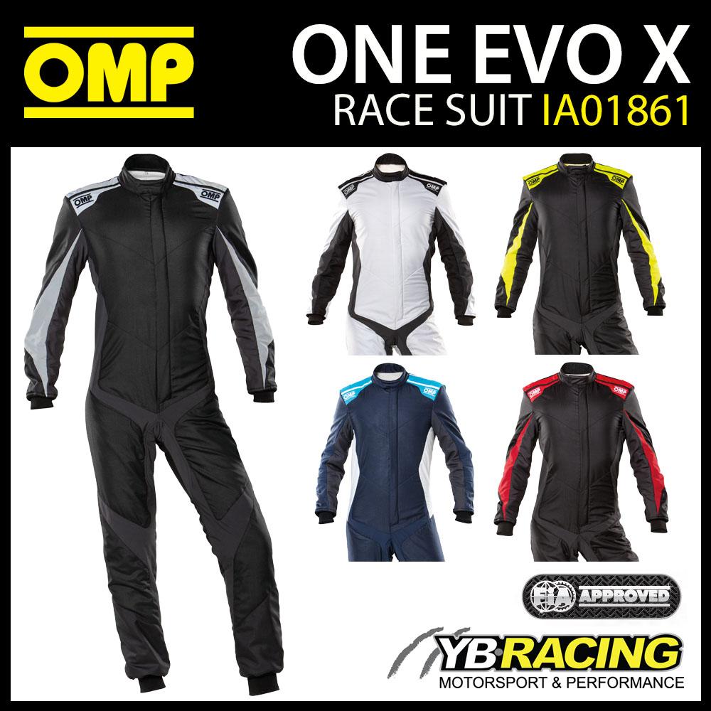 IA01861 OMP EVO X RACE SUIT PROFESSIONAL ULTRA-LIGHT FIA 8856-2018 APPROVED