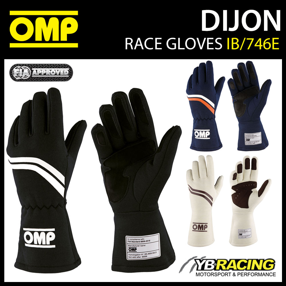 IB/746E OMP DIJON VINTAGE RACING GLOVES FIREPROOF FIA 8856-2018 RACE RALLY CAR