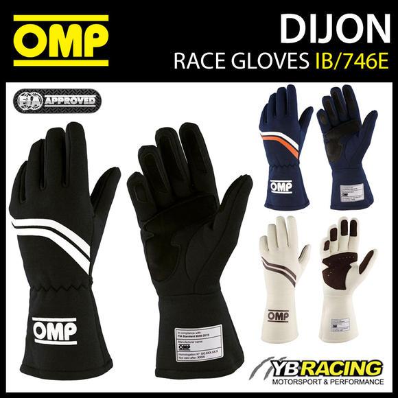 IB/746E OMP DIJON VINTAGE RACING GLOVES FIREPROOF FIA 8856-2018 RACE RALLY CAR