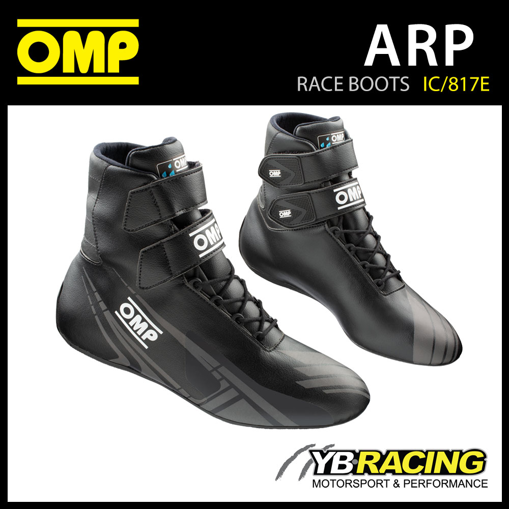 IC/817E OMP ARP KARTING BOOTS ADVANCED WATERPROOF FABRIC KART SHOES HIGH-HEIGHT