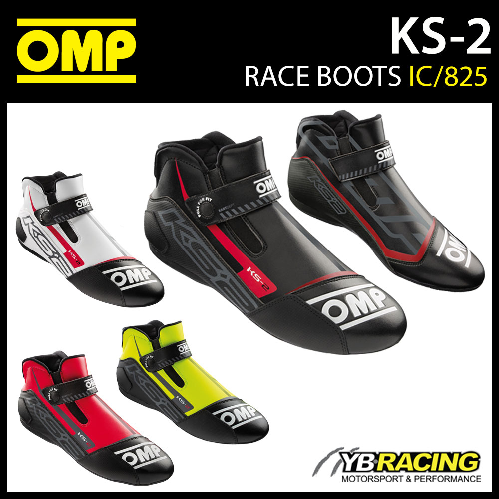 IC/825 OMP KS2 KS-2 KART BOOTS 2021 NEW MODEL MICROFIBRE FABRIC KARTING RACING