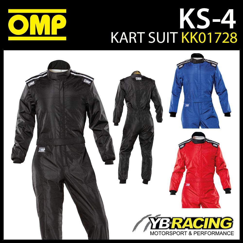 KK01728 OMP KS4 KS-4 KART SUIT OVERALLS ENTRY LEVEL CIK-FIA LEVEL 1 KARTING