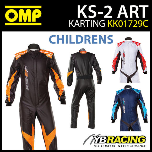 KK01729C OMP KS2 KS-2 ART KART SUIT CHILDREN KIDS JUNIOR CADET CIK-FIA LEVEL 2