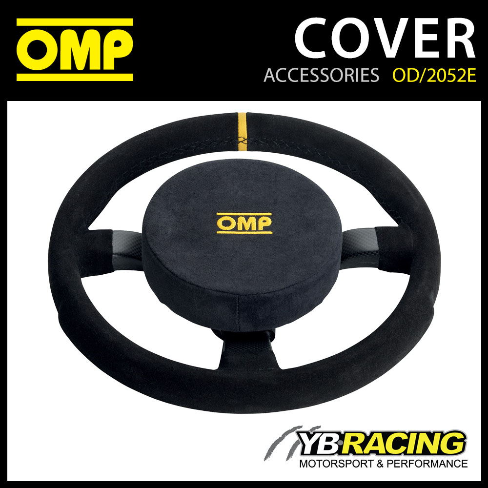 New! OMP Steering Wheel Protective Pad Suede Leather Fabric 160mm Diameter