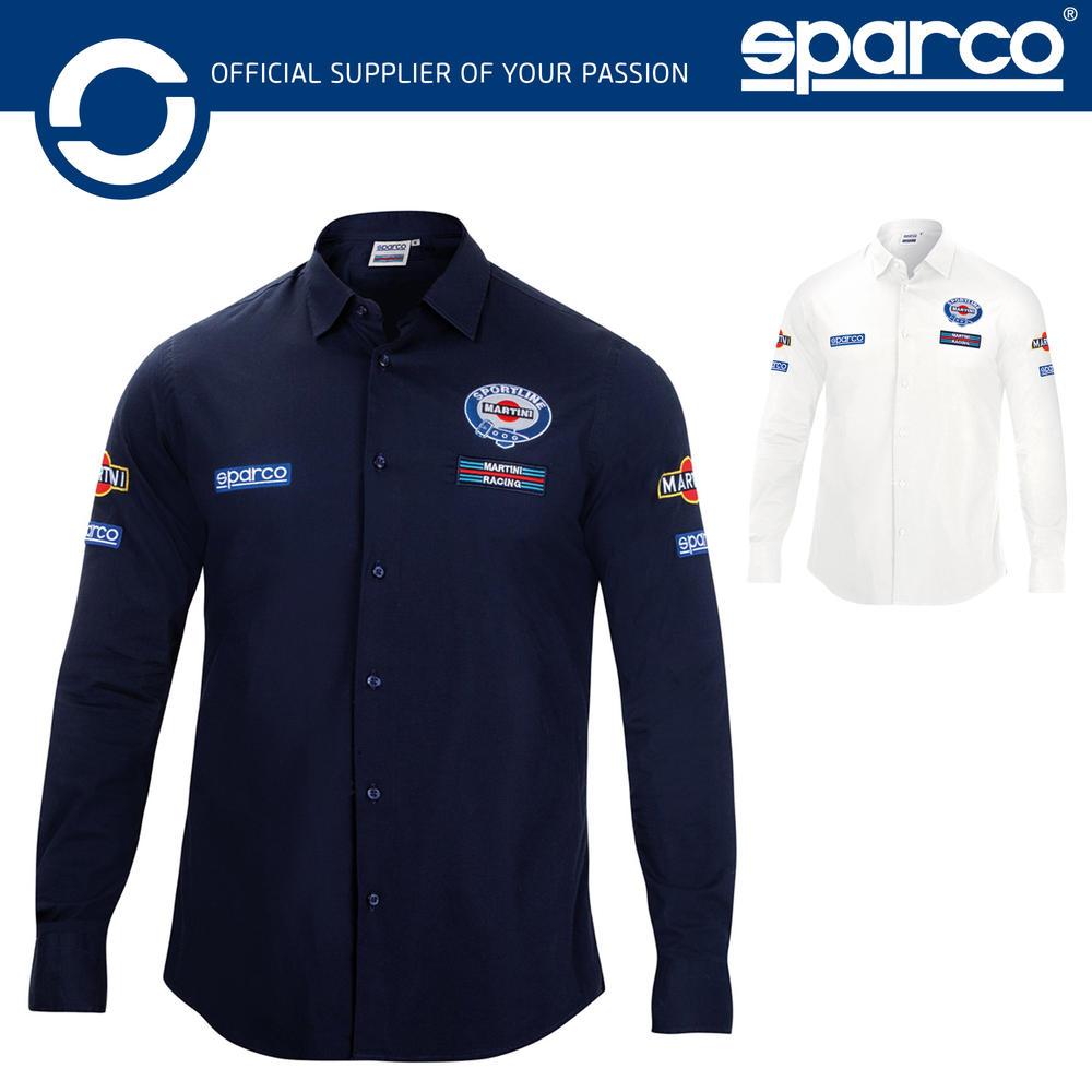 New! 2021 Sparco Martini Racing Long Sleeve Shirt Retro Style Lancia Rally Team