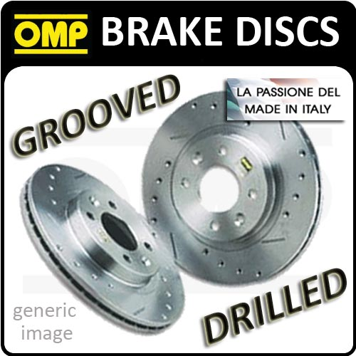 MERCEDES CLASS C W204 320 CDI 07- OMP FRONT 322mm BRAKE DISCS DRILLED  TFS/2214